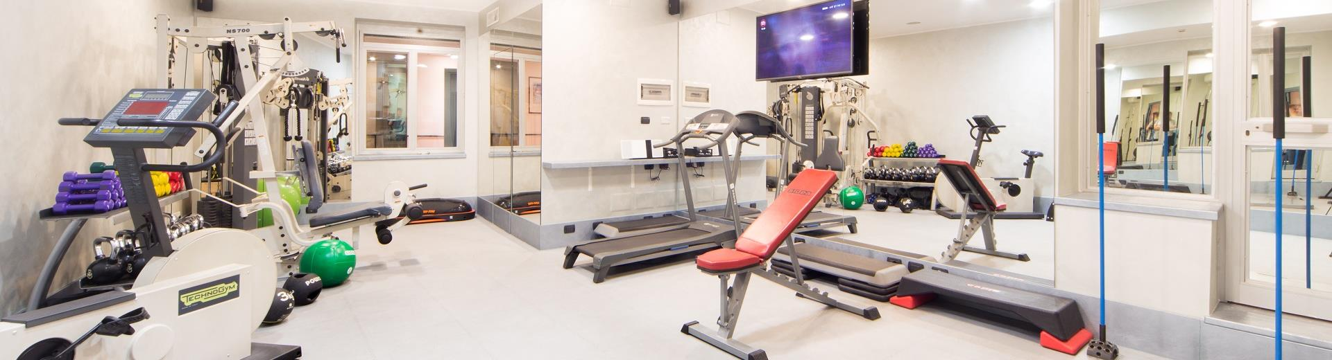 Keep in shape in the gym of the 4 star Best Western Hotel Nazionale Sanremo