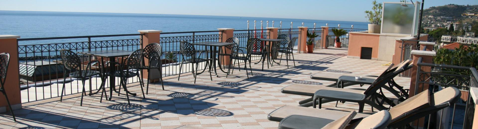 The terrace of Best Western Hotel Nazionale is equipped to make you relax