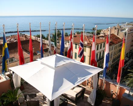 Visit Sanremo- Terrace overview at Bestr Western Hotel Nazionale