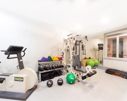 Fitness and workout in the gym at the Best Western Hotel Nazionale 4 stars