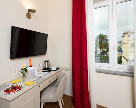 Services and comfort in the large rooms of our hotel