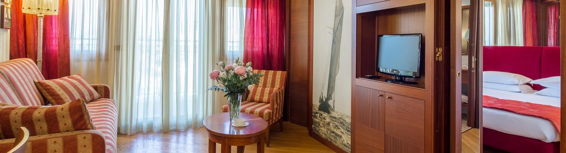 The comfortable and spacious rooms of the Best Western Hotel Nazionale San Remo