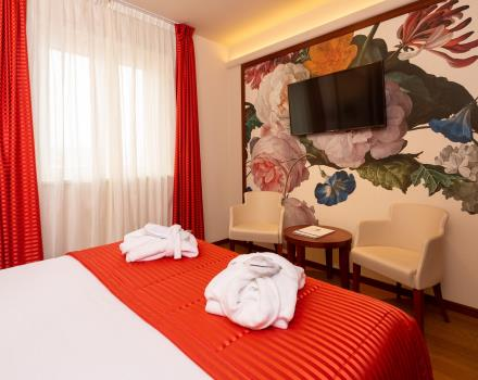 Our deluxe double rooms in Sanremo centro are waiting for you